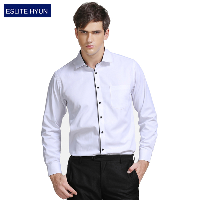 db43a626715c6 Classic Striped Men Dress Shirts Long Sleeve Plus Size Business Formal  Shirts Male Casual Shirts camisa masculina camisas hombre