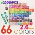 2.6mm Fuse Beads 66 Color(20000pcs+1 Template+3 Iron Paper+2 Tweezers) Hama Beads Diy Kids Toy Craft Perler Beads sale