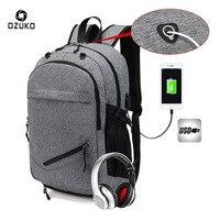 Senkey Style Backpack Men Big USB Charging Laptop Backpack School Bags For Teenagers High Capacity Fashion