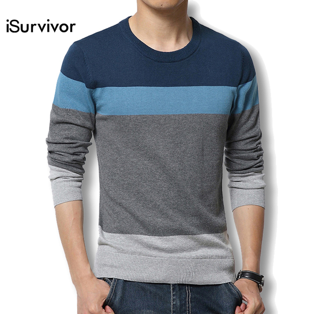 2016 New Men Pullover Casual Autumn Men's Sweater Slim Fit Brand Fashion Pullover O Neck Sweater Plus Size Best Quality Hot Sale