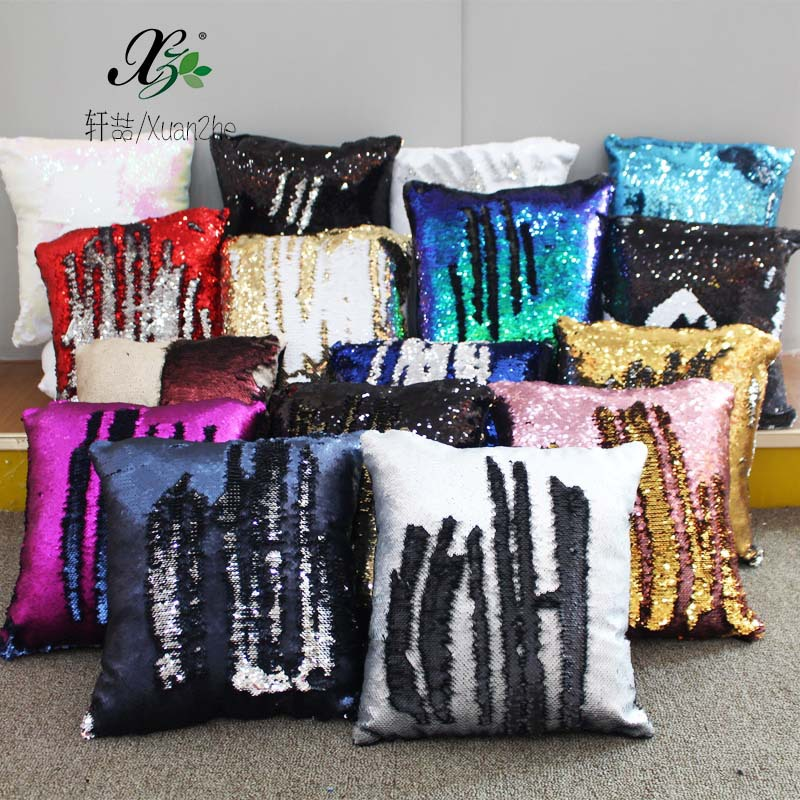 Sequined pillow color changing magic pillow