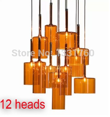 Spillray Pendant Lamp from Axo Light suspension lighting modern glass pendant lighting dinning room hanging light 10 12 heads hand made wool felt hat aluminum suspension lamp cap jeeves and wooster pendant light hanging lighting dinning hall couture