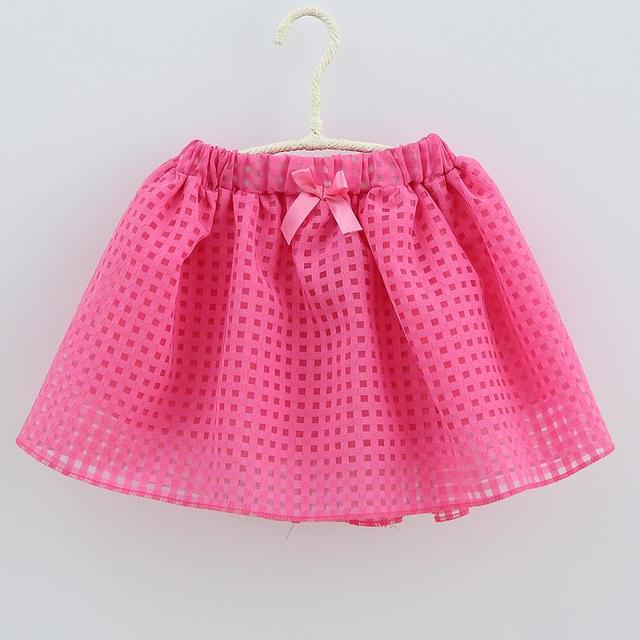 Niñas niños 2017 versión Coreana de la falda a cuadros busto falda grande virgen forro de algodón niños marea falda