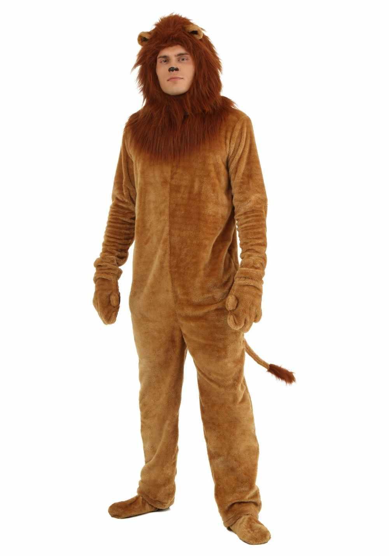 Качество Волшебник из унций Фильм взрослых Deluxe лев костюм для мужчин  животных Хэллоуин костюмы для косплея e1708950fdcb4