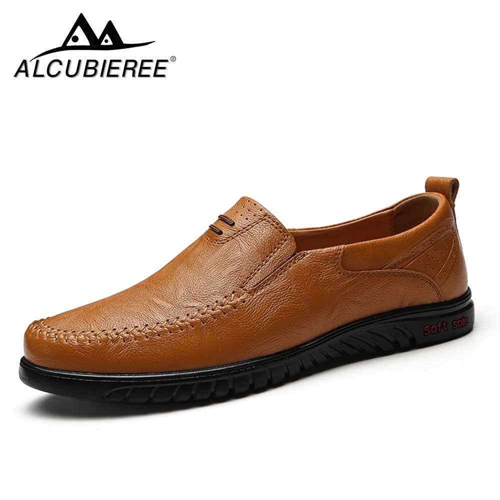 Большой Размеры Новое поступление Разделение кожа Для мужчин повседневная обувь Модный Топ качество мокасины для вождения Лоферы без заст...
