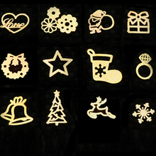 3d Gold Metal Nail Art Sticker Decoration Wheel Christmas Mix Designs Tiny Slice DIY Manicure Nail Accessories 3d nail art fimo soft polymer clay fruit slices cartoon for nail manicure sticker cell phones diy designs wheel decoration czp35