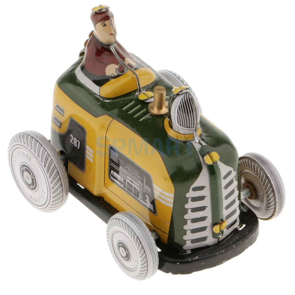 Vintage Diesel Tractor Model Wind-up Clockwork Tin Toys Collection Gifts For Kids Children Adult