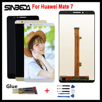 Sinbeda 100 Tested 3 Color White Black Gold For Huawei Mate 7 LCD Display Touch Screen