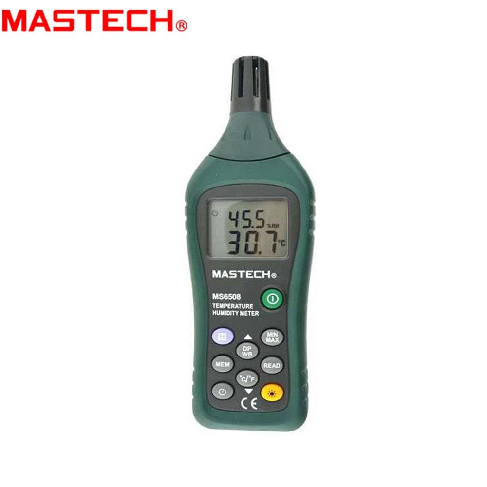 MASTECH MS6508 alta precisión Digital temperatura humedad medidor estación meteorológica