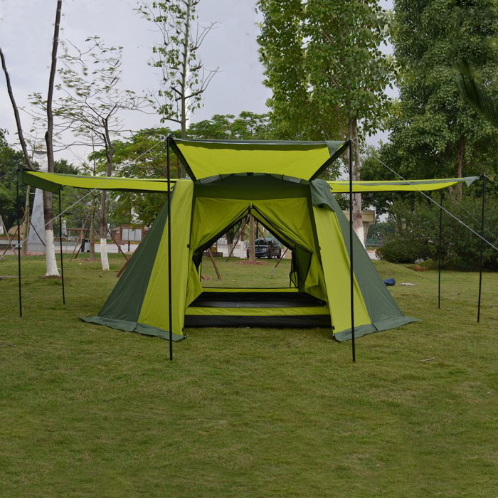 Genuine Alltel 4 people outdoor double layer A-042 camping automatic four seasons tent catalog 4 seasons
