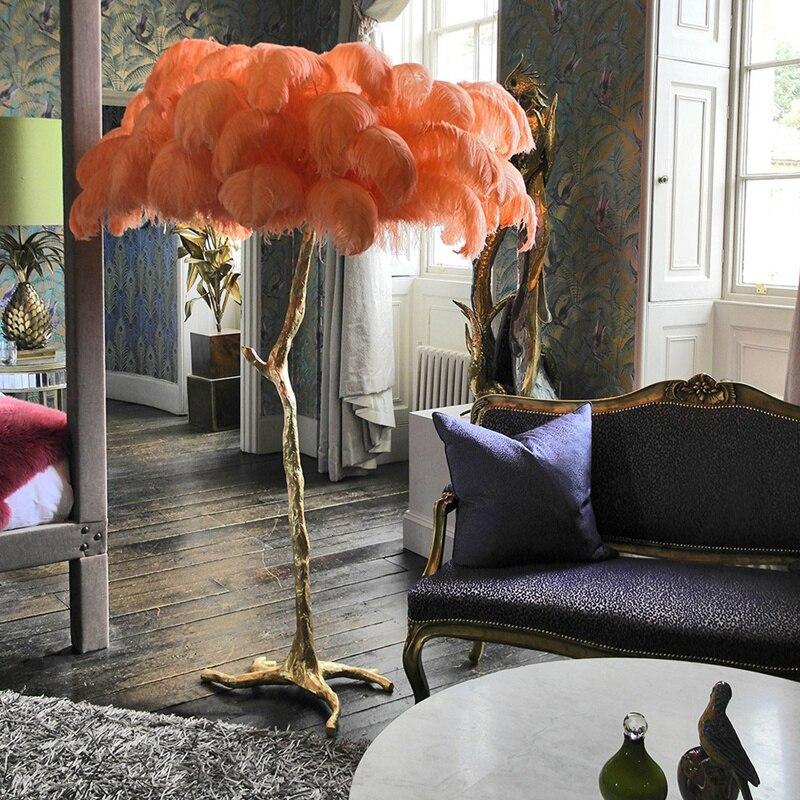 Nordic Современная Роскошная ветка дерева перо торшер высокого класса стенд свет Торшер для гостиной Прямая поставка