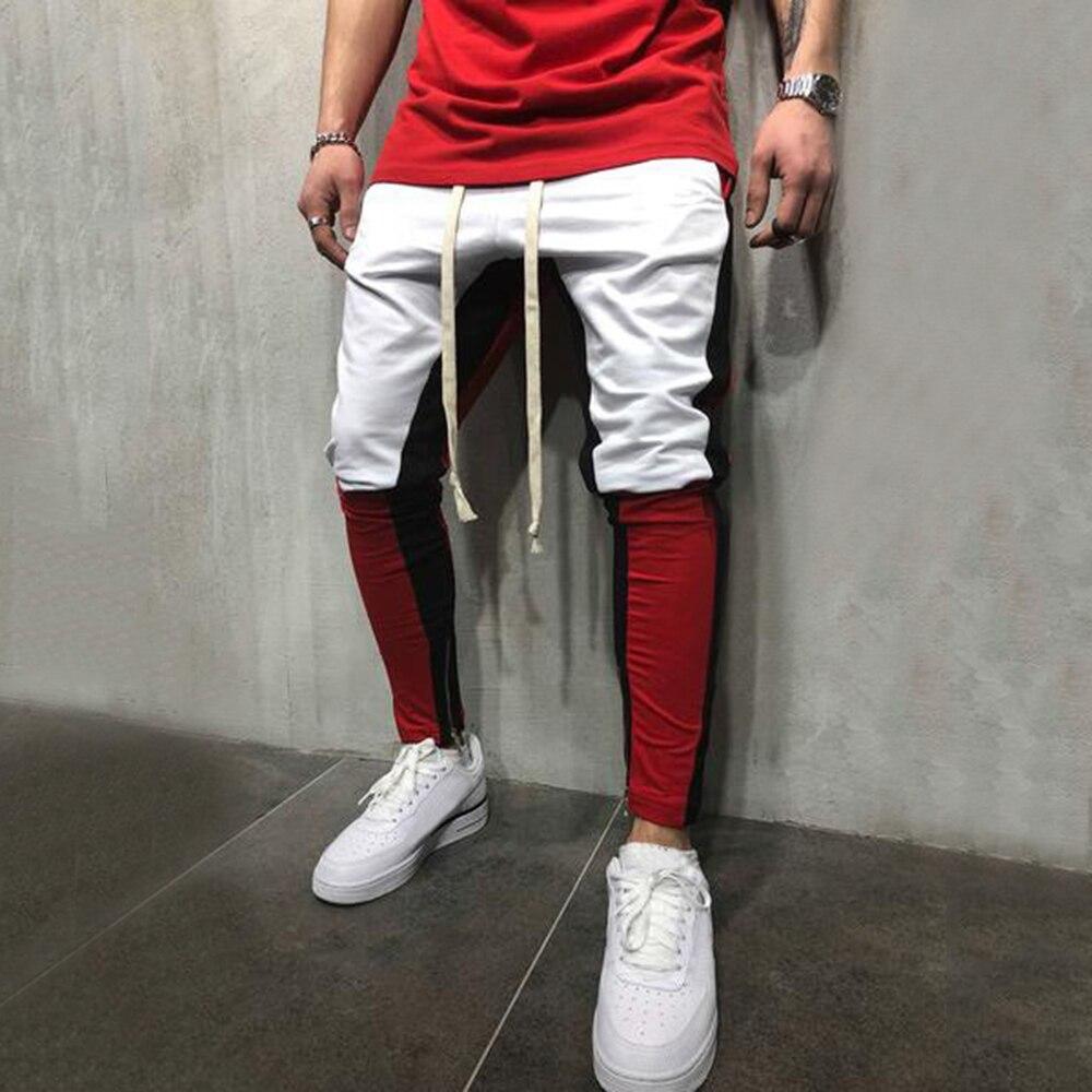 Casual Cotton Ankle-Length Men's Light Pants Mid Waist Pants Slim Men Pencil Pants Cotton Skinny Masculina Male Trousers D40