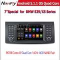 "FreeShipping Android 5.1 HD QuadCore 7 ""автомобильный DVD для E39 E53 X5 автомобильный dvd gps для E39 E53 X5 с WI-FI Navi Радио BT miralink 1din"