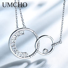 UMCHO 925 Sterling Silver Connected Letter Pendant Neklaces for Women Fine Jewely Gift Casual Sporty Party(China)