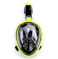 2018 new plated colorful Scuba GoPro Camera Diving Mask Underwater Swimming Snorkel Mask Anti Fog Full Face Snorkeling