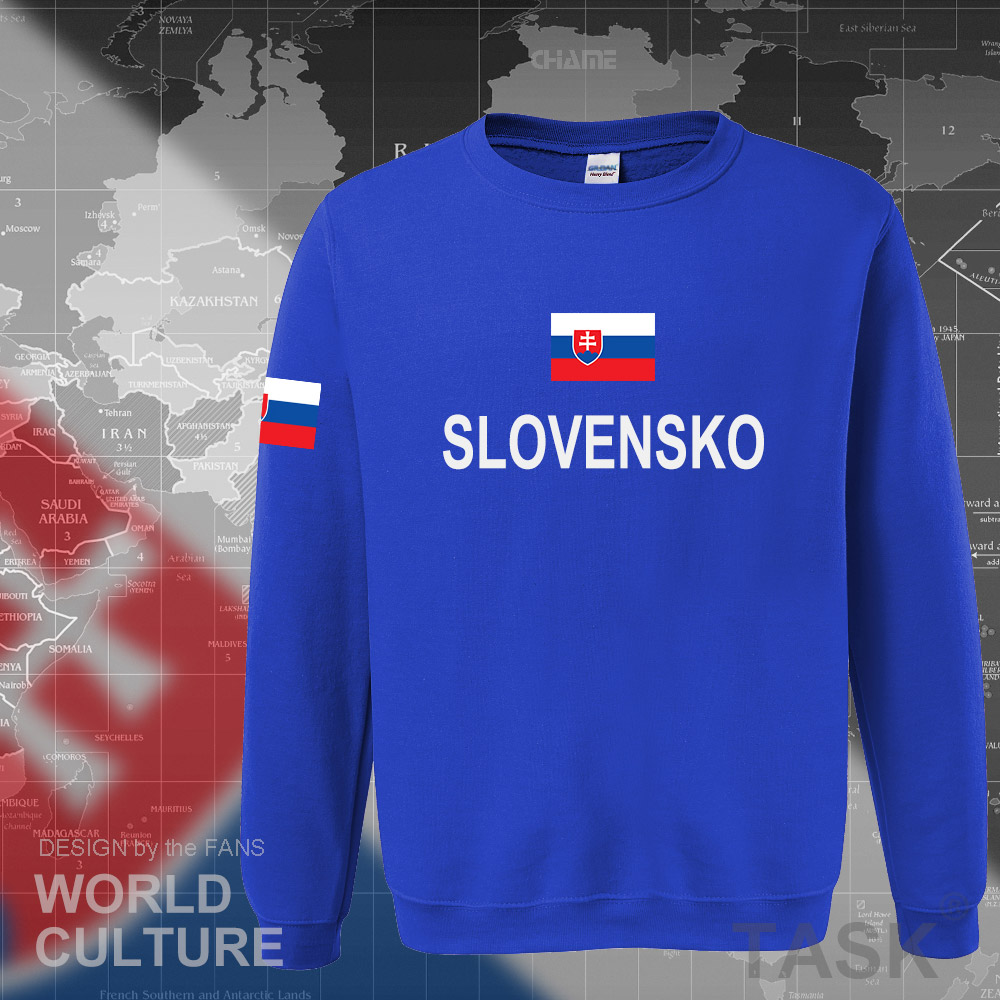 Slovak Republic Slovakia Hoodies Men Sweatshirt Sweat New Hip Hop Streetwear Tracksuit Nation Footballer Sporting SVK Slovensko