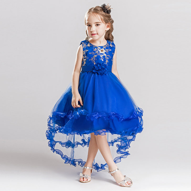 Tulle Applique Flower Girl Dress Communion Wonderful Princess Party Evening Girl Cosplay costume 3 to 10 years old girl