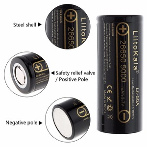 Image 2 - LiitoKala Lii 202 batteria del caricatore 2 pcs HK LiitoKala Lii 50A 26650 5000 mah batteria Ricaricabile per la torcia elettrica, 40 50A di scarico
