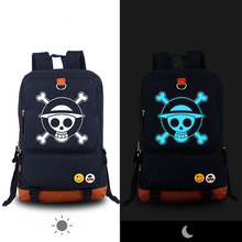 Luffy Chopper Skull Luminous Printing Canvas Bag