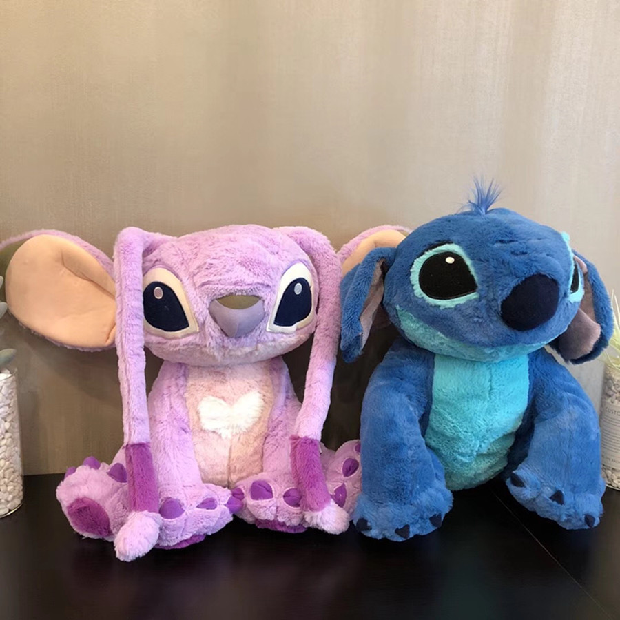 1pcs 38cm=15inch Kawaii Stitch and Angel Plush Doll Lilo and Stitch Plush Toys for Children Kids Birthday Gift Baby Kids Toys random distribution of many models plush toys sponge baby stitch rabbit bear plush doll baby birthday gift
