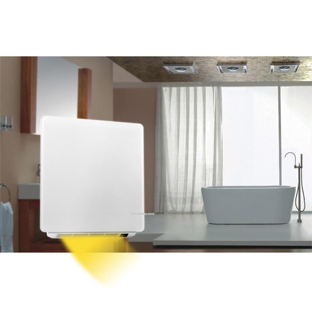 €19.19 19 hiver salle de bains radiateur infrarouge avec minuterie  murale chauffage électrique panneau de chauffage 19 W IP19  AliExpress