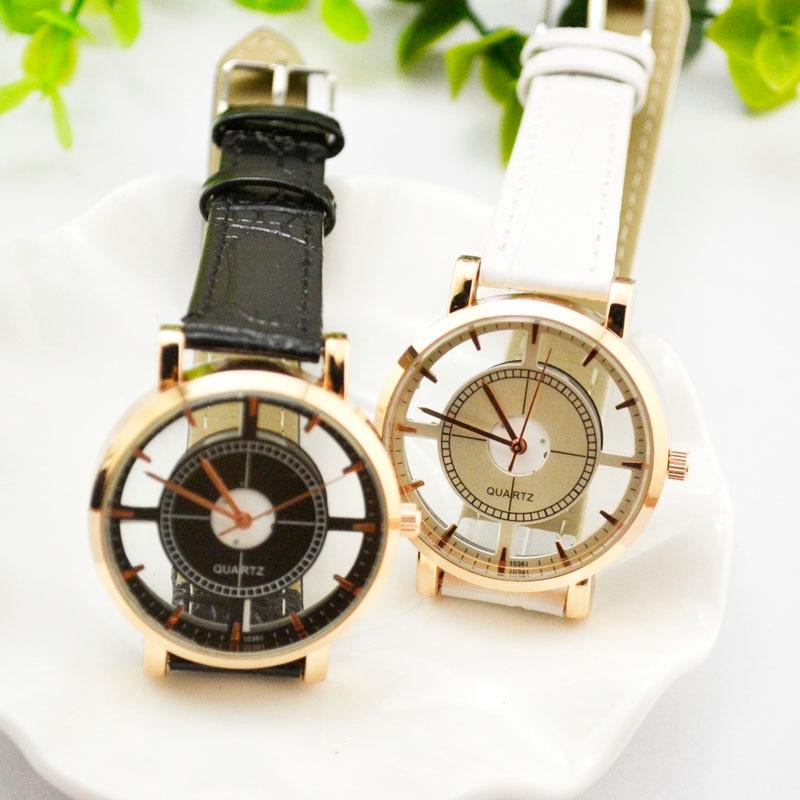 2017 New Quartz Female Watch Luxury Brand Leather Watches Men&Women Pierced Watches Ladies Student Wristwatch Clock Time JH183