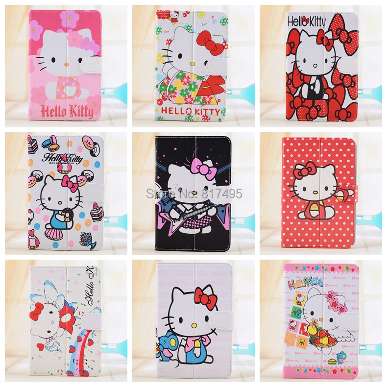 Full hello kitty series 7 inch universal cartoon leather case cover full hello kitty series 7 inch universal cartoon leather case cover for samsung galaxy tab 2 tab 3 tab 4 in tablets e books case from computer office on voltagebd Choice Image