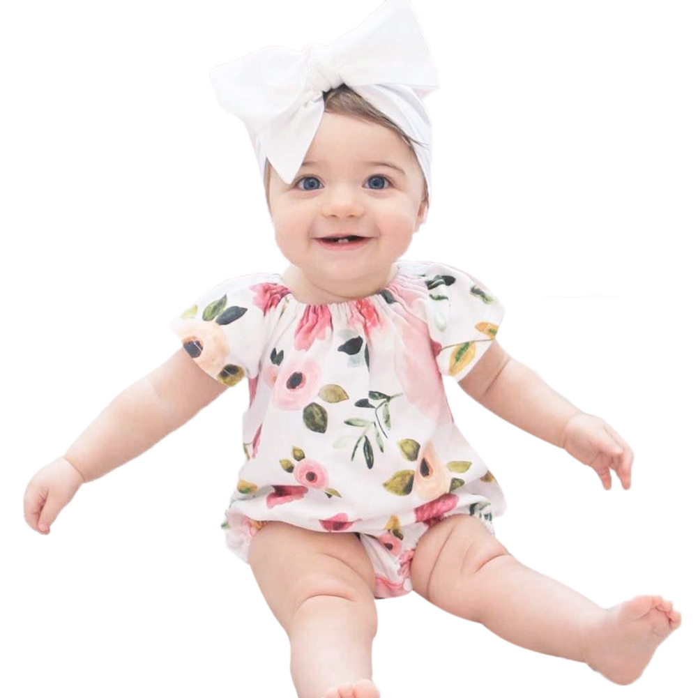 Newborn Baby Girl Romper Summer Baby Girls Floral Romper Cute Baby Jumpsuits Infant Girls Clothing Jumpsuits & Playsuit 0-24M