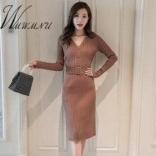 808beb5f93c11 Dresses Office Lady Dresses with Belt Fashion Promotion-Shop for ...