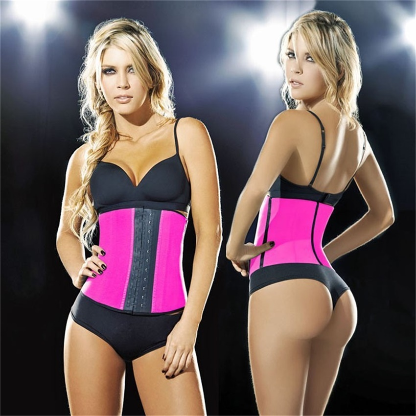 Hot Body Shaper Underbust Steel Bone Waist Training Corset Waist Trainer Latex Waist Cincher Corset Slim Belt Rubber Shapewear