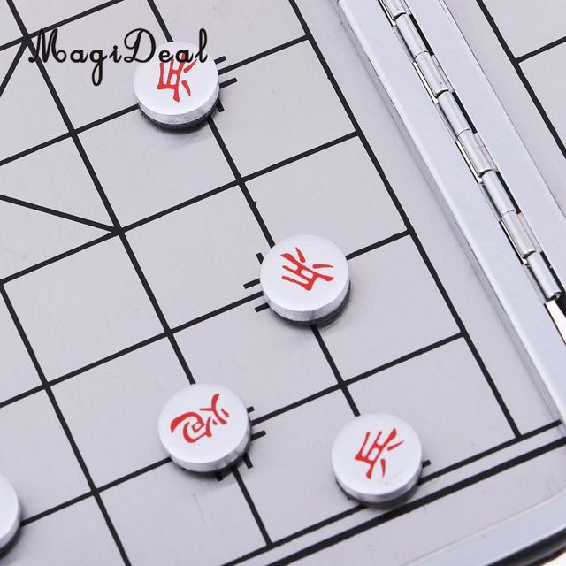 Échiquier pliable pliant jeu d'échecs chinois avec échiquier pour les Sports de Camping de voyage 4