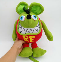 New 12 Inches Carton Green Tales of the Rat Fink Mouse Fink RF Soft Stuffed Doll For Birthday or Christmas GIfts