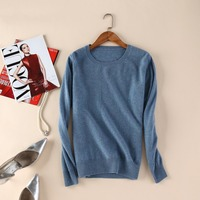 High Quanlity Women Sweaters Winter 100 Pure Cashmere Pullover 2015 Hot Sale New Fashion O Neck