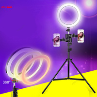Live lighting Flexo ring lamp shooting video photo bracket equipment outdoor selfie artifact Photo Tripod CD50 T07