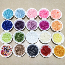 100pcs/lot 6mm No Hole ABS Imitation Pearls Beads Round Spacer Bead For Jewelry Making DIY Charms Bracelet  Necklace Accessories