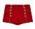 Mulheres 2016 Venda Quente Cintura Alta Shorts Vermelhos Com Detalhes de Botão Do Vintage Rockabilly Pin Up Retro Hotpants frete grátis