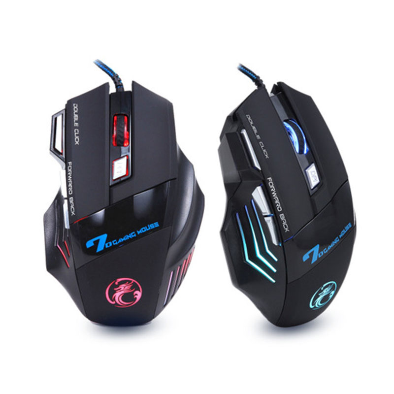 NEW Wired Gaming Mouse Mice 7 Buttons Optical Computer Mouse E-Sports USB Mouse For Computer Laptop Raton Ordenador X7