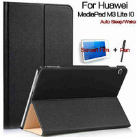 Ultra Thin Magnetic Stand Smart PU Leather Cover For Huawei MediaPad M3 Lite 10 10 1