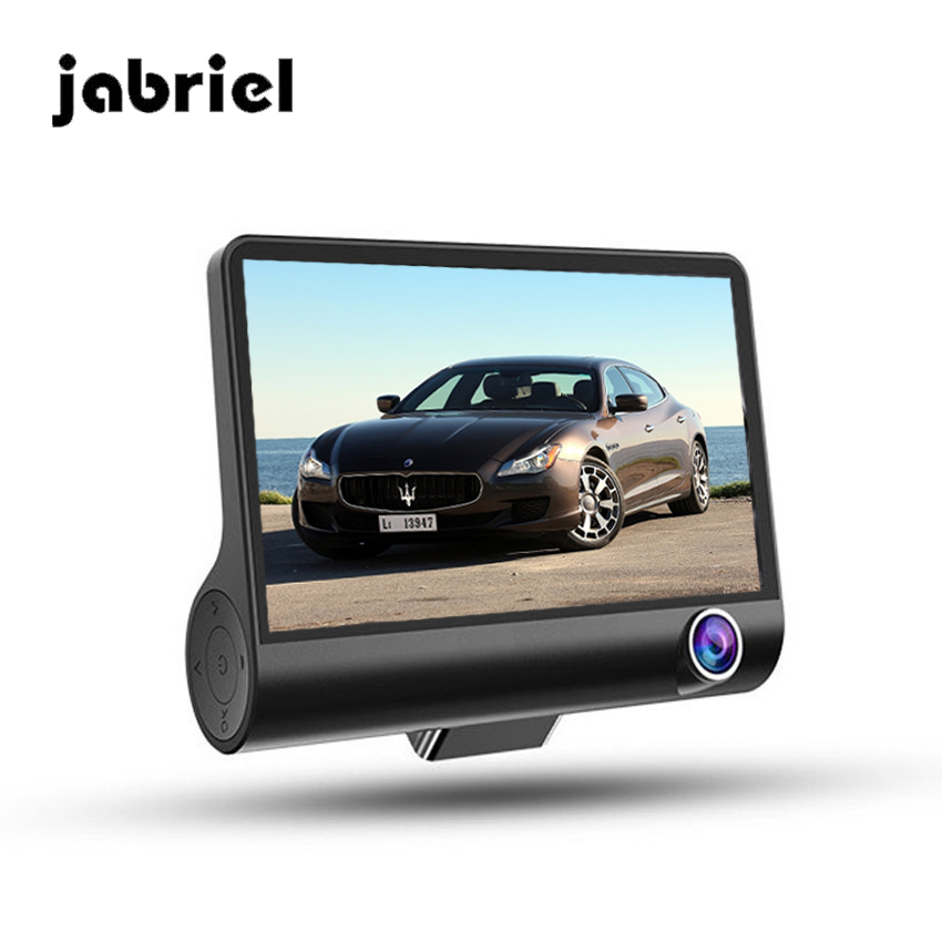 Jabriel Car DVR With three Cameras 4.0 Inch IPS auto Registraror car drive Full HD 1080P Digital Video Recorder Dash Cam Camera