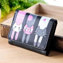 MOLAVE wallet new fashion Women Cat Pattern Coin Purse Short Wallet Card Holders Handbag wallet female famous jan6(China)
