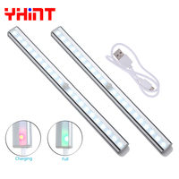 20leds Rechargeable Wireless PIR Motion Sensor Night Light Lamp For Bedroom Cabinet Wardrobe Drawer Battery Power