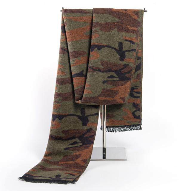 Cachecol diseño clásico de invierno bufanda larga de Cachemir Cálido Camuflaje Bufanda Bufandas de Los Hombres Para Los Hombres de Negocios Casual Hombres Chal foulard