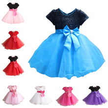 Luxury 2016 New Princess Girl Dress Kids Baby Girl Dress Children Clothing Dress Girls Cosplay Applies 3-10 Age