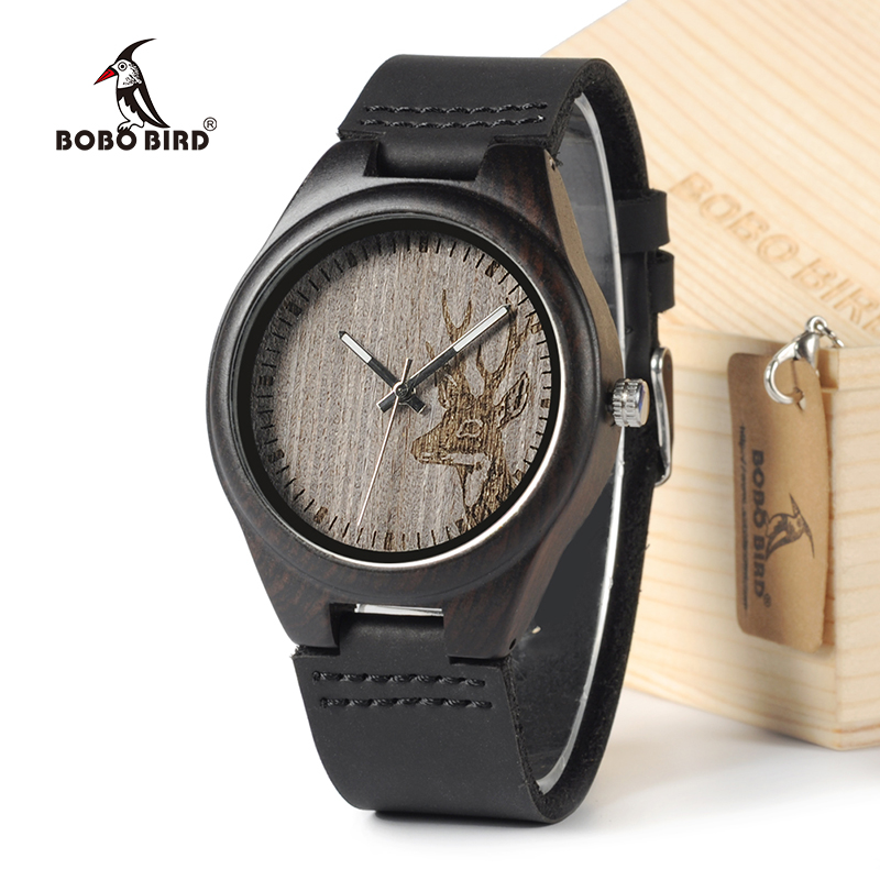 BOBO BIRD G03 Japan Movement Quartz Wooden Watches Antique Men Watch With Genuine Cowhide Leather Band bobo bird brand handmade wooden watch men wristwatch genuine cowhide leather band wood watches relogio masculino c g03