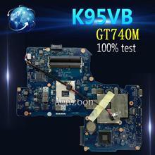 Amazoon K95VB GT740M 2 Гб N14P-GV2-B-A1 2 Разъем для карты памяти Материнская плата Asus K95VJ K95VM ZAY90 LA-A681P Материнская плата ноутбука испытания