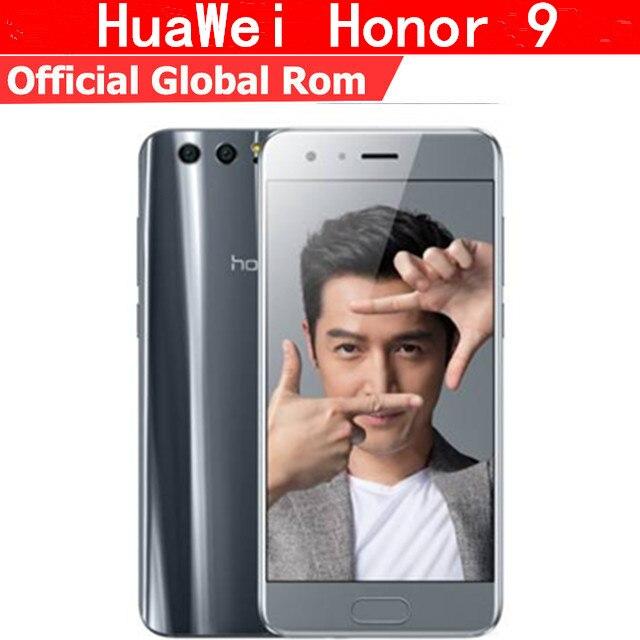 "Международный Встроенная память Huawei Honor 9 4 г LTE мобильный телефон KIRIN 960 Android 7.0 5.15 ""FHD 1920×1080 6 ГБ Оперативная память 64 ГБ Встроенная память 20.0MP NFC"