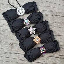 1ea12c30539e Дизайнер для Secret Diamond для женщин купальники малышек Топ бикини топы  корректирующие черный купальный костюмы пикантные