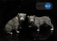 personality Creative resin Bulldog dog sculpture home decoration accessories vintage parlor dog ornament resin animal statue