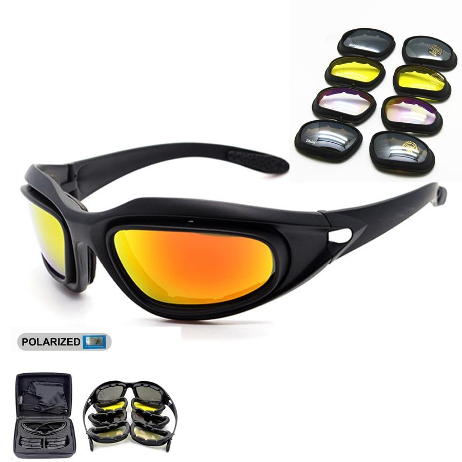 편광 된 군대 고글 선글라스 남성 군대 일요일 안경 남성 사막 전쟁 게임 전술 안경