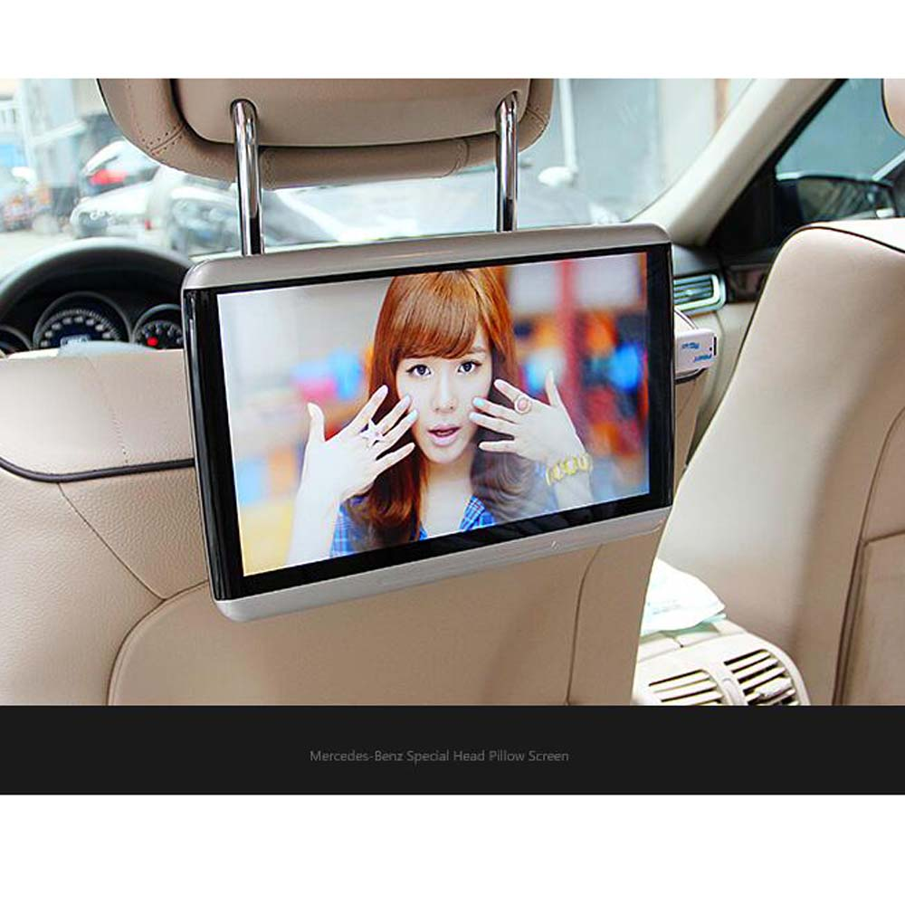 US $448 8 15% OFF|2017 Best Quality 10 6 Inch Display For Mercedes benz  Headrest DVD Player Smart Andrew Car Rear Entertainment System-in Car  Monitors